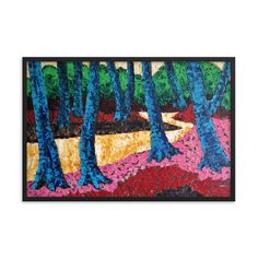 Bartos Art Framed Poster: WOODS I., Create a unique and personalized Ambiance in your Home and Office Timeless Beauty, Framed Art, Original Paintings, Alternative, Scene, Key, Create, Simple, Unique