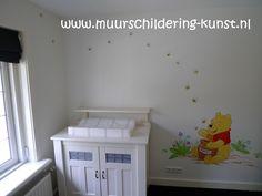 Winnie the Pooh babykamer schildering