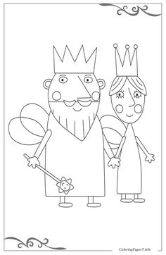 Image Result For Ben And Holly Coloring Pages Pdf Penelopes