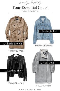 Style Basics - Four Essential Coats // Emily Lightly - minimalist style, capsule wardrobe, slow fashion