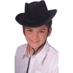 Rubie's Costume Child's Dura-Shape Deluxe Black Cowboy Hat -- Want additional info? Click on the image.