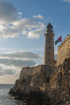 Lighthouse at Morro Castle - Havana Cuba