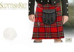 image of Royal Stewart Men's Tartan Kilt