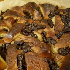 Chocolate Chip Brioche Pudding