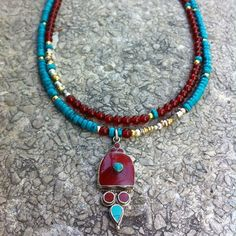 The combination of Turquoise and agate....
