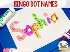 Name Activities for Preschool – Future COTA- Bingo Dot Name Activity Name Activities for Preschool Carrie Chambers Future COTA Bingo Dot Name Activity Carrie Chambers Bingo Dot Name Activity Name Activities for Preschool Future COTA Bingo D Name Activities Preschool, Name Writing Activities, Preschool Art Activities, Preschool Writing, All About Me Activities For Preschoolers, Preschool About Me, Preschool Education, Learning Activities, Preschool Name Recognition