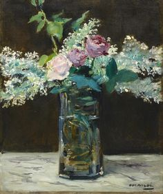 Édouard Manet, Vase of White Lilacs and Roses, 1883, oil on canvas, Dallas Museum of Art, The Wendy and Emery Reves Collection