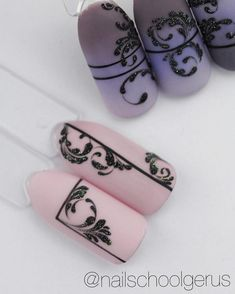 let's take a look at the 80 Awesome Acrylic Almond Nails Designs we have collected for you. They are very useful for almond nails. One Stroke Nails, My Nails, Nail Art Arabesque, Swirl Nail Art, Nailart, Almond Nails Designs, Lace Nails, Geometric Nail, Manicure E Pedicure