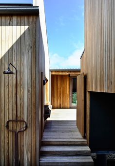 Sandy Point House sees Kennedy Nolan approach the site with both humility and sensitivity to create an occasional home that is connected to place. Kennedy Nolan, Timber Cladding, The Design Files, Australian Homes, Coastal Homes, Bricks, Interior Architecture, Architecture Details, Instagram