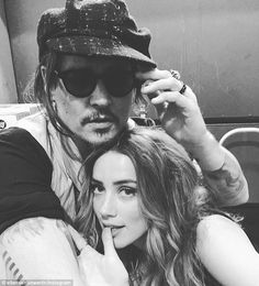 Johnny Depp and Amber Heard attend Stella McCartney's Autumn 2016 presentation in Hollywood, January 12 Amber Heard Makeup, Amber Heard Hair, Amber Heard Style, Amber Heard Johnny Depp, Depp Heard, Amber Heard Dating, Celebrity Babies, Celebrity Style, Celebrity Couples