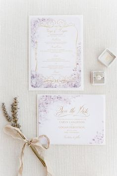 Lavender Wedding Invitations-5