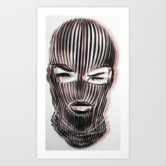 Badwood 3D Ski Mask Art Print by Badwood - $24.96