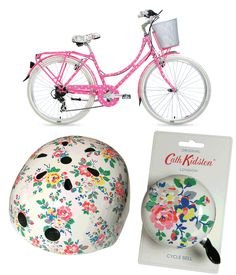 Poppytalk: Cath Kidston x Kingston Bicycles Want that helmet! Mountain Bike Accessories, Cool Bike Accessories, Best Mountain Bikes, Mountain Bike Shoes, Mountain Biking, Cruiser Bicycle, Bicycle Wheel, Bicycle Maintenance, Frames