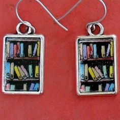 #Bookshelf Earrings #BookishGifts WritersRelief.com