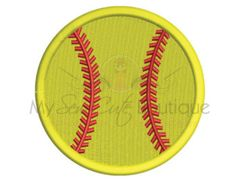 Softball Embroidery Designs - Baseball Sports Monogram Machine Applique - 19 Sizes - Instant Download