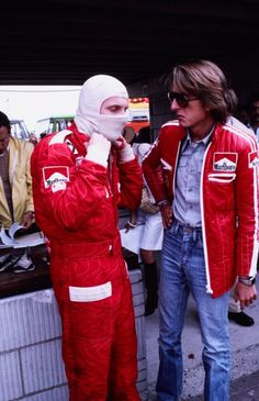 """ Niki Lauda and Luca di Montezemolo Dutch Grand Prix, 1975"