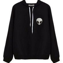 New outono casual wear hoodies pulôveres mulheres clothing estrangeiro imprimir com capuz manga comprida camisola moda plus size(China (Mainland))