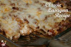 Classic Lasagna Recipe :: PocketChangeGourmet.com