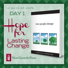 As you look ahead to the new year, find hope in the truth that the gospel changes us from the inside out! Jesus is our hope for lasting change.  #12daysofhope