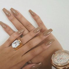 In search for some nail designs and ideas for the nails? Here's our list of 20 must-try coffin acrylic nails for fashionable women. Nude Nails, Coffin Nails, Acrylic Nails, Neutral Nails, Sexy Nails, Nail Manicure, Gorgeous Nails, Pretty Nails, Perfect Nails