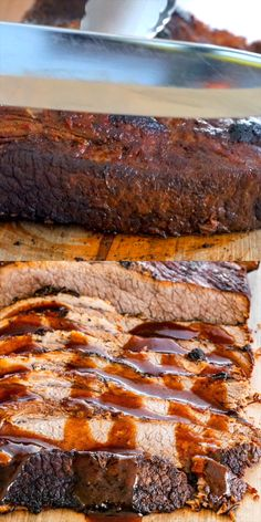 Get ready to make the juiciest, most delicious Beef Brisket in your Instant Pot! In a fraction of the time, you can enjoy this mouthwatering Beef Brisket with an incredible garlic barbecue sauce! No Instant Pot? No problem! This recipe comes complete with Instant Pot Beef Brisket Recipe, Beef Brisket Recipes, Ground Beef Recipes, Crockpot Recipes, Cooking Recipes, Chicken Recipes, Brisket In Crock Pot, Recipe For Brisket, Brisket In The Oven