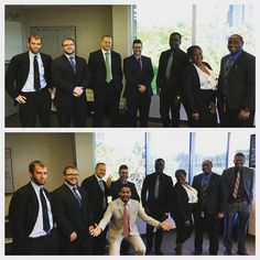 Kickin' butt taking names lookin' fly!! All in a days work at E&L Global Communications!  #photoshoot #suits #michigan #squad #humor #workfamily #eandlglobalcomm