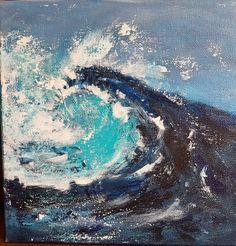 Different Media, Beginner Painting, Waves, Artist, Outdoor, Outdoors, Artists, Ocean Waves, Outdoor Games