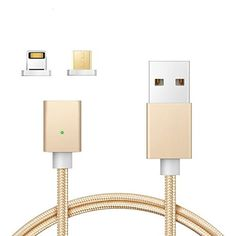 $5.59 (60% Off) on LootHoot.com - Magnetic Lightning Micro USB Charging Cable Cord Braided Two-mode Super Magnetic Charging Data Sync Cable for Android Smart Phone iPhone and More/3.3 ft( Gold)