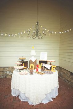 A cake and lovely sweets!  Jessie Holloway Photography by The Lovely Find