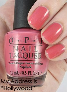 My address is Hollywood - OPI  Just got a pedi and got this color.  Very pretty.