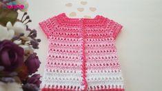 Degrade Bebek Yeleği Yapımı - Canım Anne Crochet Baby, Crochet Top, Crochet Vests, Beard Cuts, Piercings, Moda Emo, Baby Vest, Mens Sweatshirts, Short Sleeve Dresses