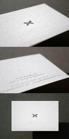 Currently browsing Minimal Design Letterpress Business Card for your design inspiration Logo Design, Identity Design, Typography Design, Web Design, Design Cars, Minimal Business Card, Simple Business Cards, Creative Business Cards, Interior Design Business