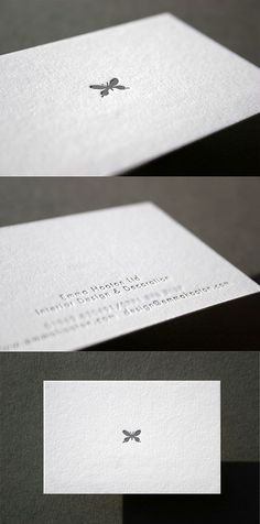 Minimal Design Letterpress Business Card