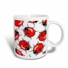 3dRose Ladybug, Ceramic Mug, 11-ounce