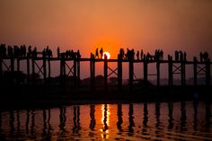 Ubein Bridge in Myanmar, Mandalay