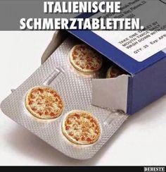 Italienische Schmerztabletten.   Lustige Bilder, Sprüche, Witze, echt lustig