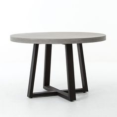 "Cyrus Round Dining Table - 48""-$760, 32""-$410, concrete layer over honeycomb core so its light"