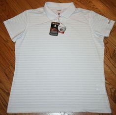 Antigua Desert Dry $65 Women's Golf Polo Shirt XL X-Large NWT New THE WOODS logo #Antigua #PoloShirt