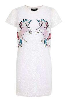 **Iridescent Mesh Unicorn Dress by Kuccia