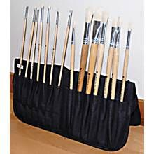 Martin Universal Just Stow It Zippered Easel Back Brush Case, Black