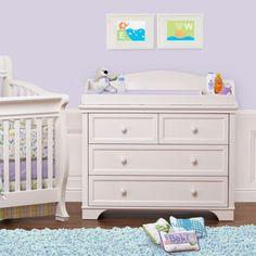 Devon White Dresser Changing Table