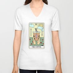 COFFEE READING V-neck T-shirt