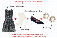Fashion Math: The Ladylike Edition - The Floral Dress