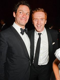 Star Tracks: Monday, December 1, 2014 | IT'S A TIE | British actor Dominic West strikes a dapper pose alongside Homeland's Damien Lewis at an after-party following the Evening Standard Theatre Awards.