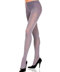 Take a look at this Gray Shimmer Opaque Tights - Women by Music Legs on #zulily today!