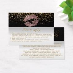 #makeupartist #businesscards - #Dusty Rose Application Instructions Business Card