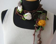 Rose and Branches  Lariat-Dusty Rose-Reserved listing for