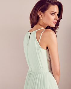 61665cfa24fe7f Love the delicate strap detail on this Ted Baker bridesmaid dress Pleated  maxi dress - Light