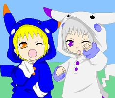 Gash and Zeon dressed as pikachu by luluzinha20.deviantart.com on @deviantART
