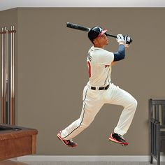 Real Big Atlanta Braves Mlb Manneshohle Wandtattoos Jagd Baseball Diy Bedroom Minion